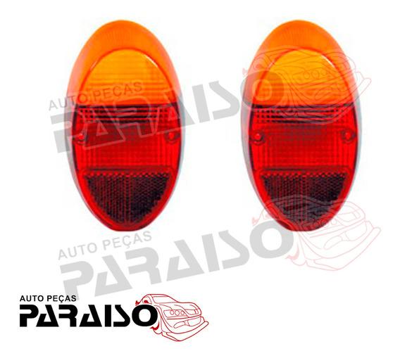 Lente Lanterna Tras Ambar Vw Fusca 1200 1300