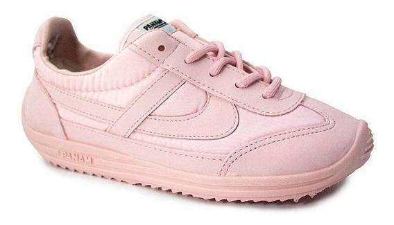 Tenis Panam 084 Niña Juvenil Rosa Textil Casuales Cómodos