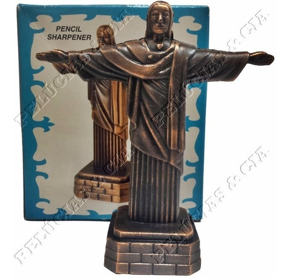 Apontador De Metal - Modelo Cristo Redentor - 614