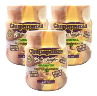 Gel Chupa Panza 3 Pzs Original De Jengibre Y Bamintol 240 Gr
