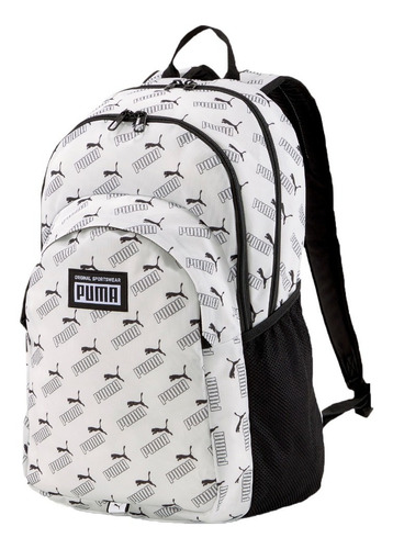 Puma Mochila Lifestyle Hombre Academy Blanco-negro Fuk