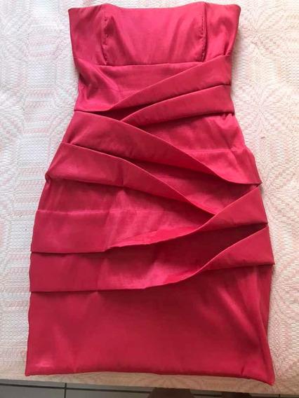 Vestido Curto Tubinho Rosa Goiaba