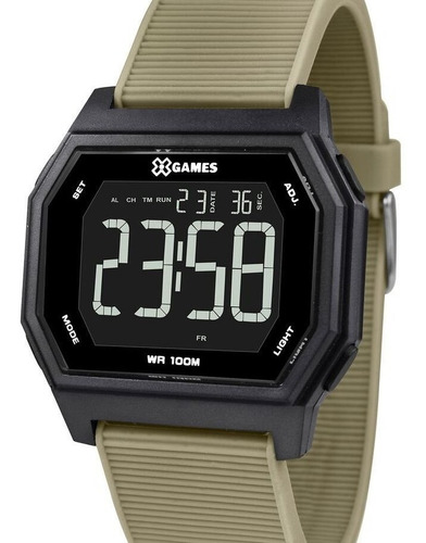 Relógio X-games Masculino Digital  Quadrado Xgppd116 Pxex