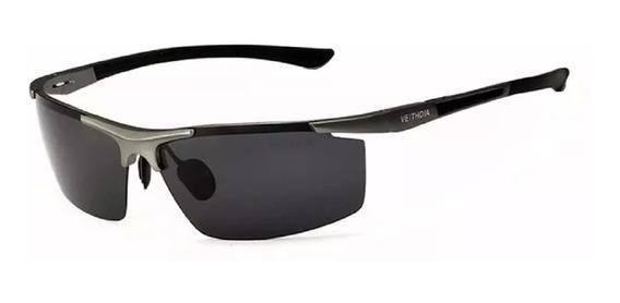 Óculos Sol Masculino Veithdia Uv400 Lente Polarizada- Grey §