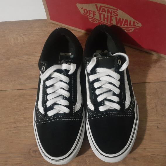 Tênis Vans Old Skool Pro Original Black/white Usado Nº36