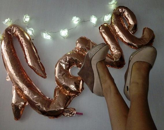 Zapatillas De Plataforma Con Oro