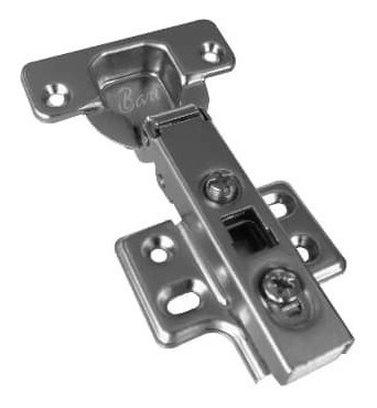 Bisagra Curva S Freno De 35mm Con Tornillo X Par Carpinter