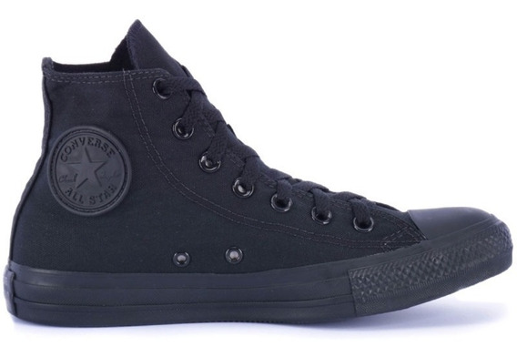 Tenis Converse All Star Monochrome Hi Preto Original
