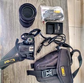 Câmera Nikon D3200+lente 18x105 Com Acessórios