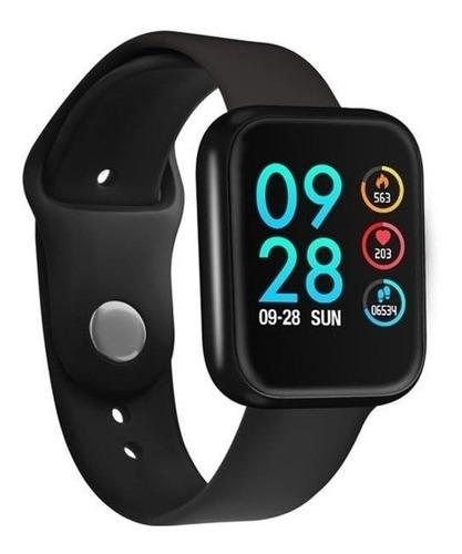 Imagem 1 de 4 de Smartwatch P80 Rosa Ios E Android + Brinde Pulseira Extra