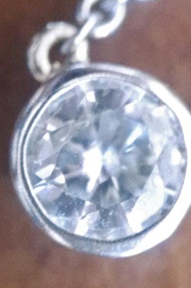 Collar Diamante Tipo Tiffany .50ct 40cm En Oro Blanco 14k