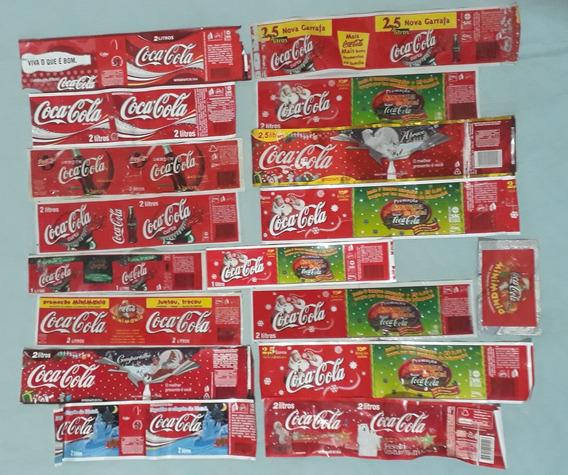 16 Rotulos Antigos Coca-cola+1embalagem Geloucos- Raridades