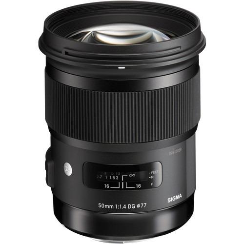 Lente Sigma 50mm F/1.4 Dc Hsm Art - Canon Garantia Sem Juros