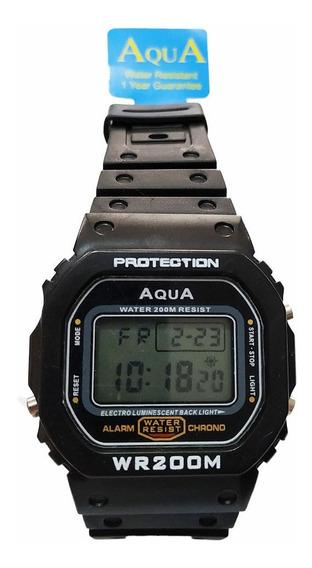 Relógio Digital Masculino Barato Aqua Prova D