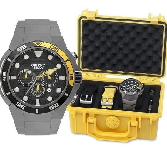 Relógio Orient Masc Titânio Sea Tech Mbttc014 - 500m Solar