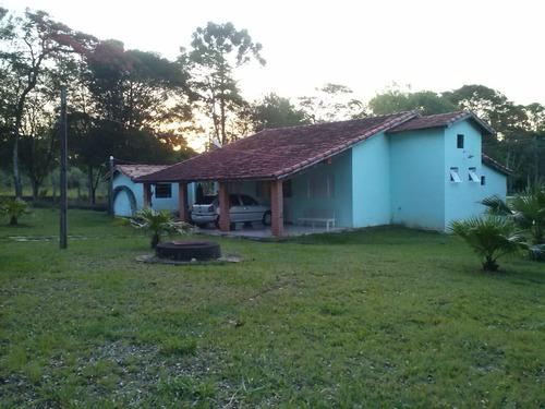 Chacara 15600m2 Plano,muita Agua,casa 2 Dorms,sala,cozinha,banheiro,3 Vagas Cobertas, - Ch00070 - 69385341