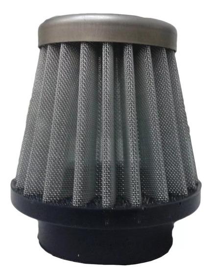 Filtro Ar Espotivo Para Moto Com Encaixe 38mm Telado Prata