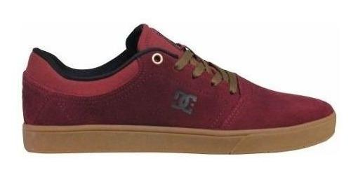 Tênis Dc Shoes Crisis La Vinho Couro Camurça