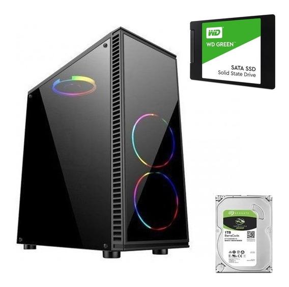 Pc Gamer Ryzen 3 2200g Apu Vega 8 8gb Monitor 19 Ssd 240gb