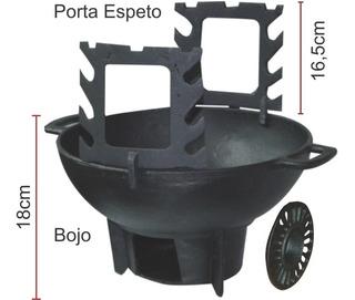 Fogareiro/churrasqueira Gengiskan Completo - Diâmetro 31cm