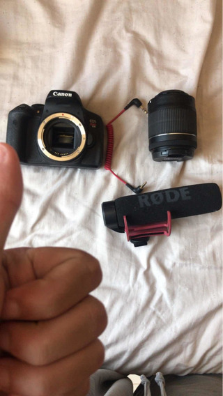 Canon T6i + Rode Mic Go + Sd 64gb + Mic Lapela Sony Ecm-cs3