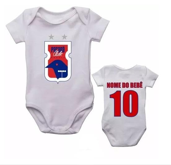 Kit 5 Body Infantil Paraná Futebol Personalizado Com Nome