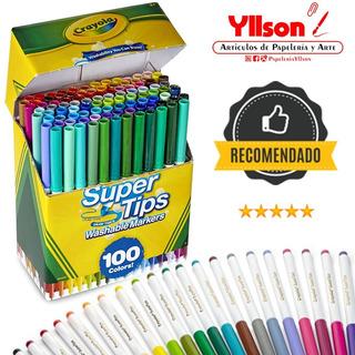 Marcadores Crayola Super Tips 100 Plumones De Colores