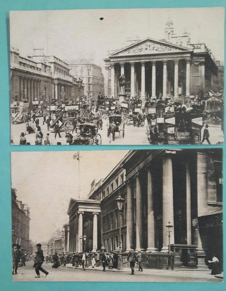 4 Postales Antiguas De La Ciudad De Londres