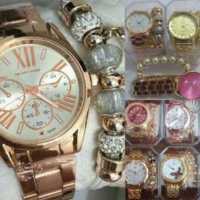 Kit 3 Relógios Feminino C/ Pulseira Atacado/revenda+caixa