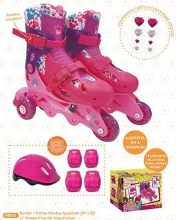 Patins 3 Rodas Barbie Infantil Nº 29 A 32 Fun C/ Nota Fiscal