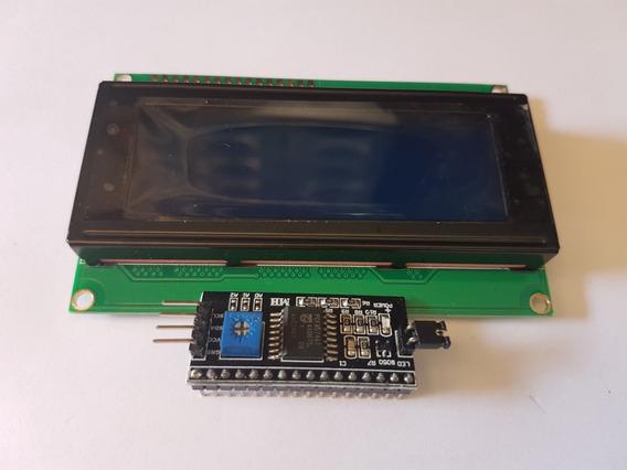 Display Lcd Azul 20x4 + Módulo I2c (cod 56)