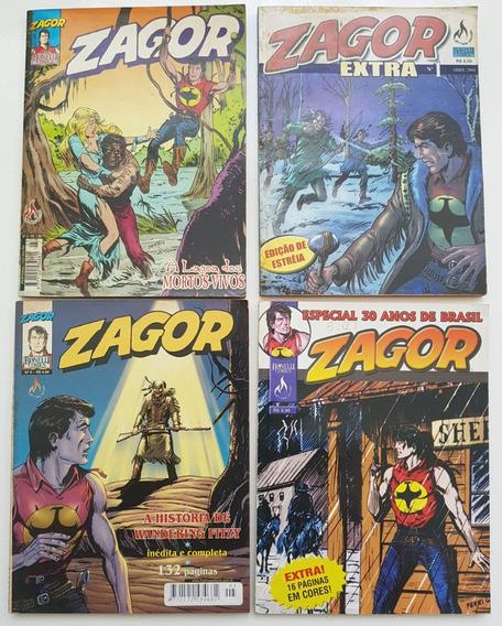 Lote Zagor 3 E 5 Extra 1 E Especial 30 Anos Mythos