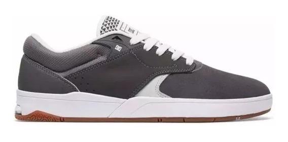 Tenis Dc Shoes Tiago S Imp Grey/white Original Frete Grátis