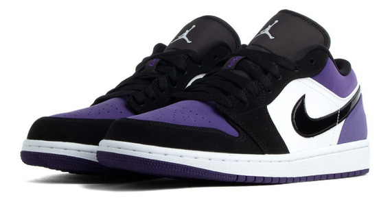 Tenis Air Jordan 1 Low Purple Orginales Envío Gratis