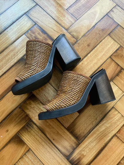 Zapato Sandalia Mishka Original T38 Yute Madera