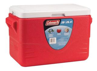 Caixa Termica Cooler 26,5 Litros Vermelho Coleman