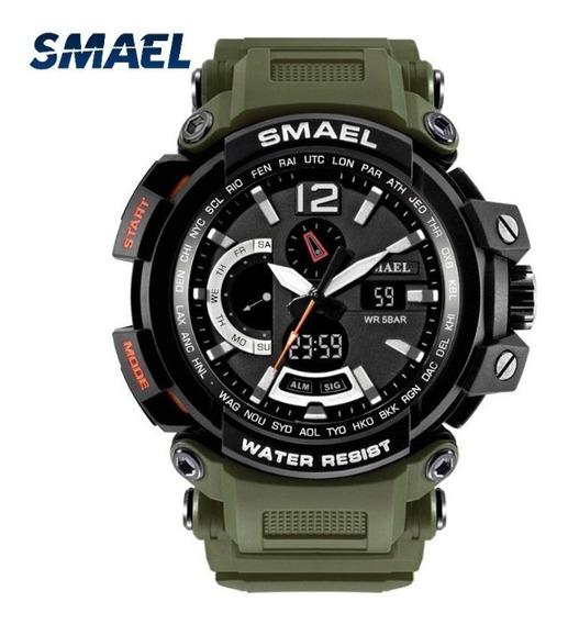 Relógio Dual Time Smael À Prova D