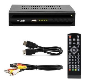 Conversor De Tv Sinal Digital Isdb-t Set Top Box 1080p Full