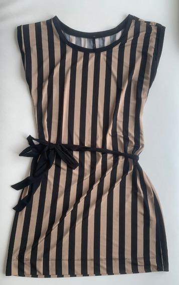 Vestido De Dama Casual Rayas - Talla S-m