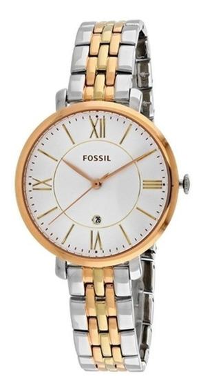Reloj Fossil Es3844 Original Mujer Dama Plata-rosa-dorado