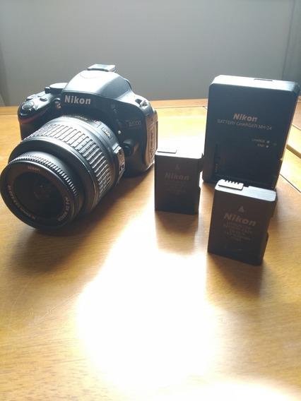 Câmera Nikon D5100 9700 Clicks Kit Com Lente Bateria E Mais