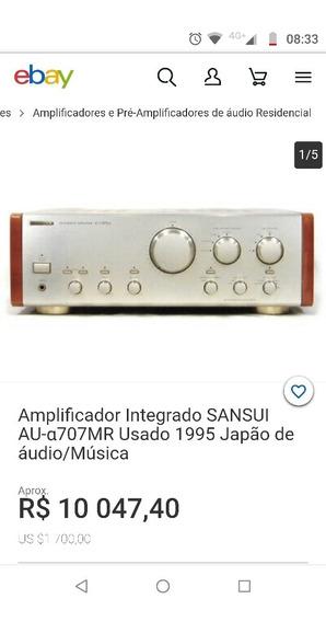 Integrado Sansui Alpha Au- 707mr Amplificador Hi End