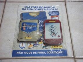 Lote Com 24 Envelopes De Figurinhas Copa 2018 + Lata Sochi