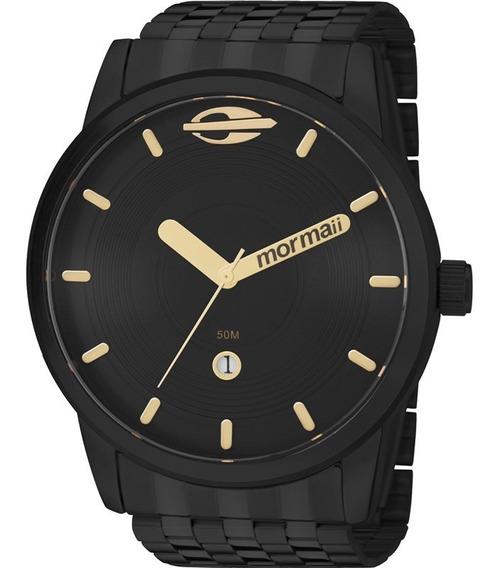 Relógio Mormaii Maui Masculino Preto Aço Inox Mo2115aa/4p