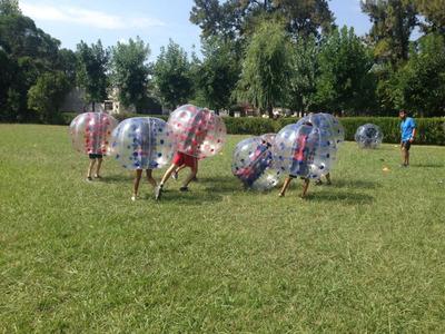 Pelotas Burbujas Gigantes Inflables Alquiler Crazy Bubbles