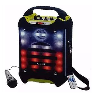 Parlante Bluetooth Karaoke Bateria Embassy + Mic De Regalo