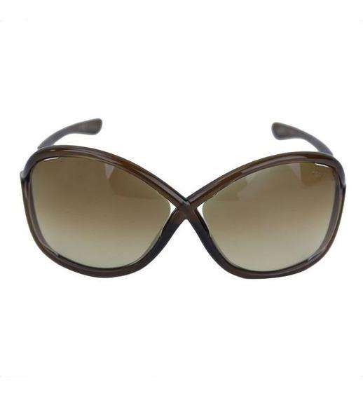 Óculos De Sol Tom Ford Whitney Marrom Original