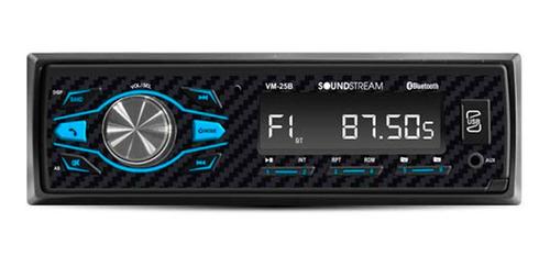 Autoestèreo Con Bluetooth Soundstream 25b Iliminación Usb Sd