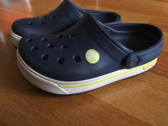 Crocs Niños Originales Usa Talle 6/7 = 20.5/22 Arg Azul/blan