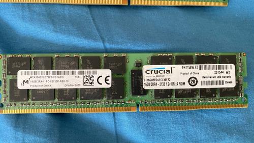 Memoria Servidor 16gb 2rx4 Pc4 2133p Crucial Ct16g4rfd4213